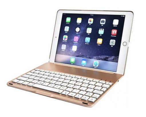 best buy iPad 2017 5TH GEN & iPad Air Smart Bluetooth Keyboard Case 7 Colors Backlit