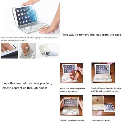 On sale bluetooth keyboard case for apple iPad Air 2