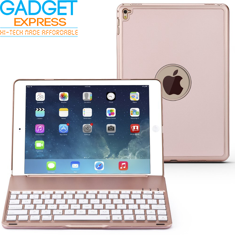 ipad air 2 aluminum bluetooth keyboard case free glass. Black Bedroom Furniture Sets. Home Design Ideas