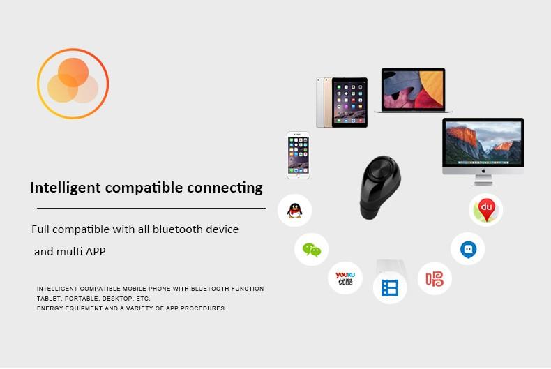 best deals Smart Mini 121 Stereo Wireless Handsfree Bluetooth Headset V4.1