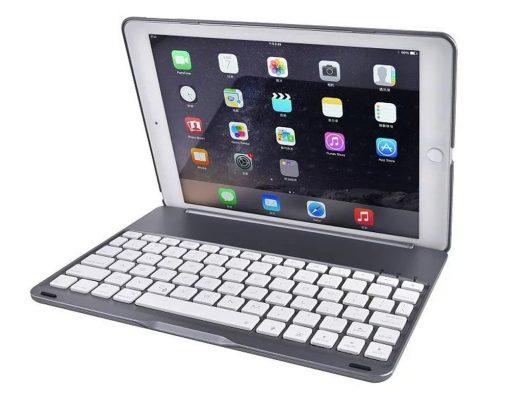 best price for iPad Pro 9.7 backlit smart bluetoothe aluminium keyboard case rose gold