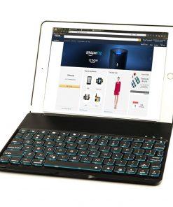 BLACK IPad Pro 9.7 Aluminum Smart Bluetooth Keyboard Case 7 Colours