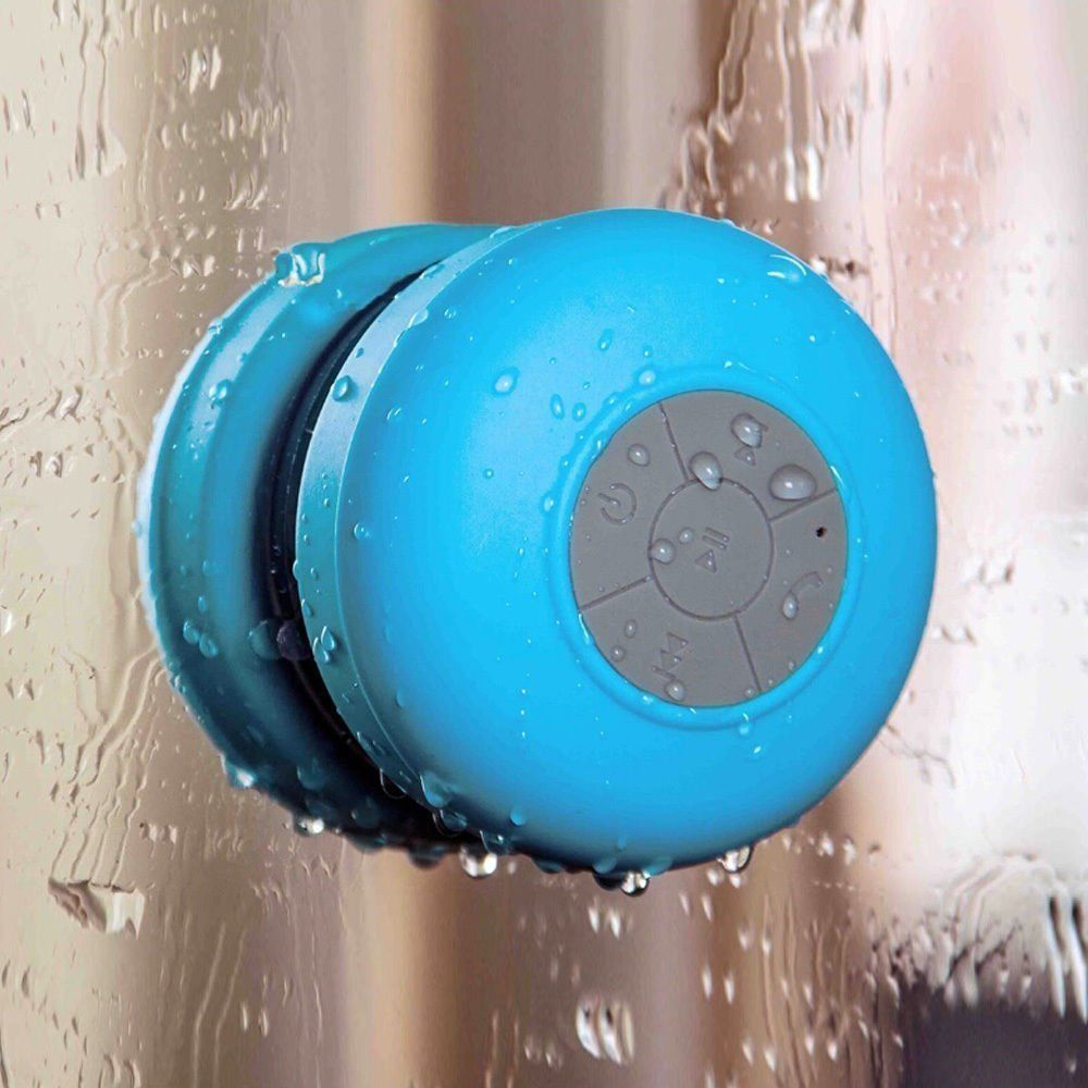 best price Bluetooth Shower Waterproof Rechargeable Suction Speaker Music MIc