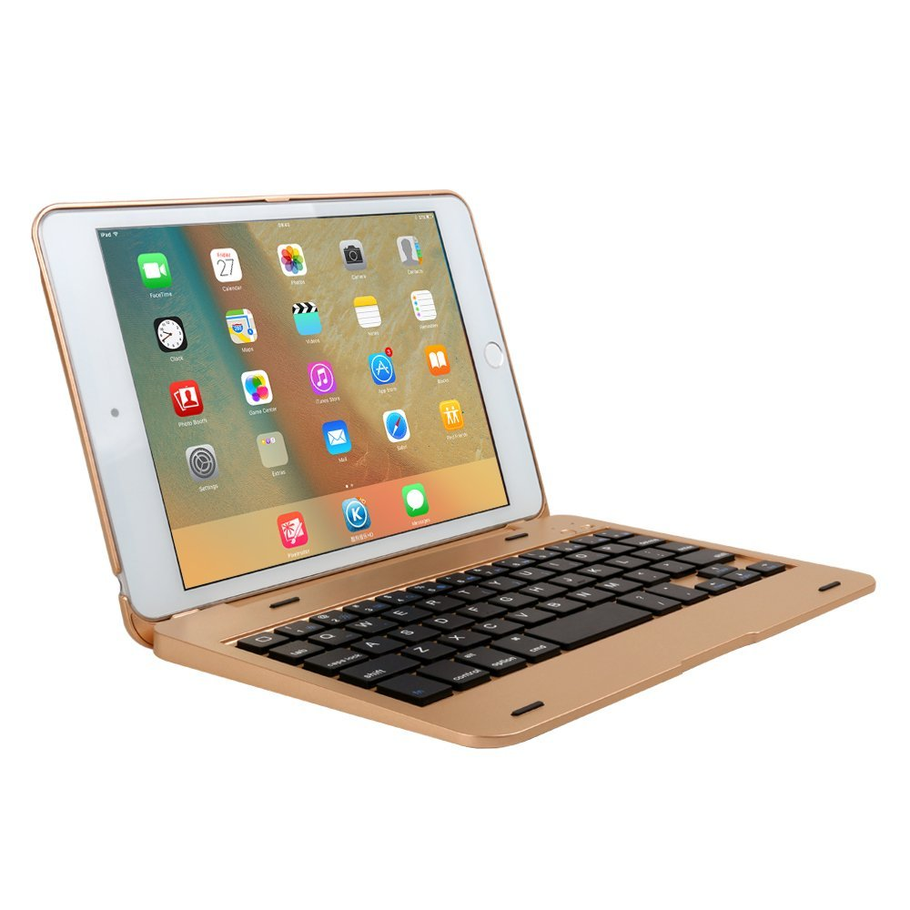Ipad Mini 4 Wireless Bluetooth Keyboard Case Cover Gold