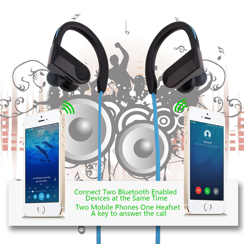 Online Wireless Bluetooth Earphones Headphones Headset Mic Sport Mobile Phone