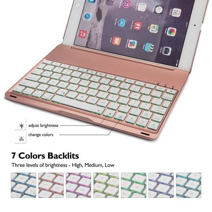 free delivery backlit smart bluetooth aluminium keyboard case
