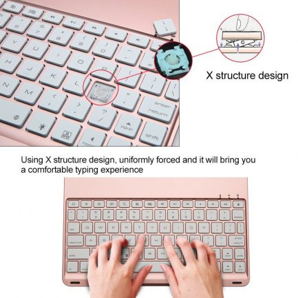 quality backlit smart bluetooth aluminium keyboard case