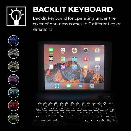quality iPad pro smart bluetooth backlit keyboard case