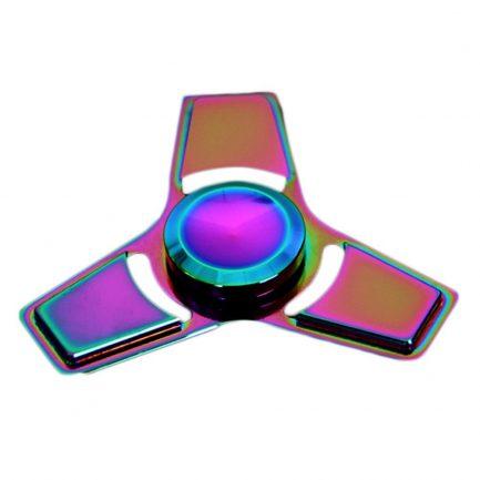best price rainbow square edge titanium spinner