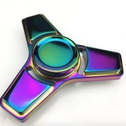 Quality Rainbow Square Edge Titanium Spinner