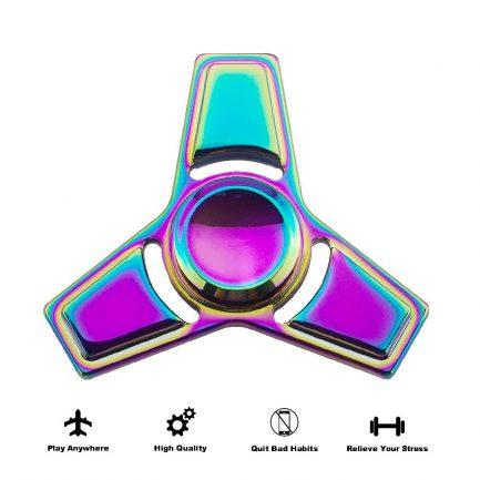 on sale rainbow square edge titanium spinner