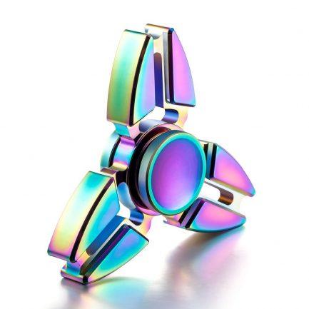 Online sale Rainbow Pointed Titanium Spinner