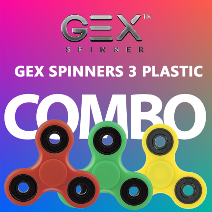 On sale GEX Plastic Spinner Combo x 3 Bundle