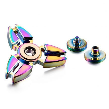 Low price Rainbow Pointed Titanium Spinner