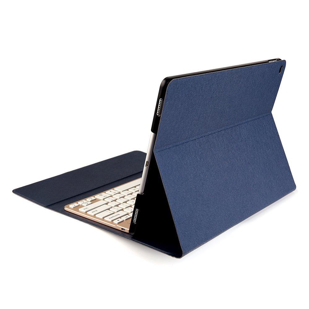 Gex Keyboard F16s 7 Color Backlit Leather Case Ipad Pro 12 9 Diamond Blue on Mini Mobile Phone Bluetooth Keyboard For Ipad