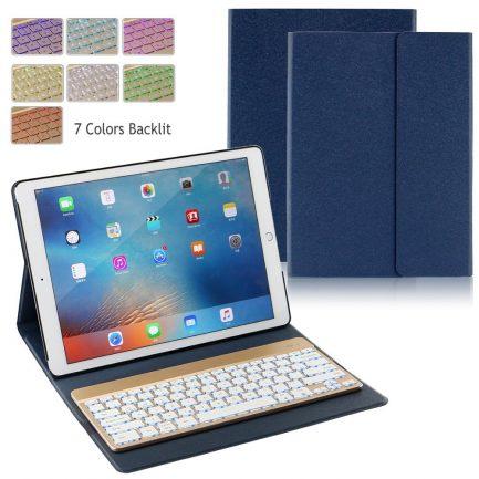 "On sale iPad Pro 12.9"" 2017 Backlit Bluetooth Keyboard Folio Case - Diamond blue"