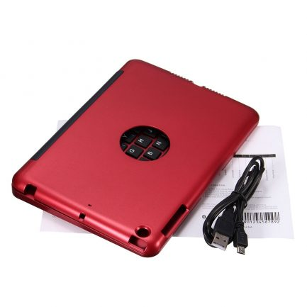 Free delivery iPad mini 3/2/1 Wireless Bluetooth Keyboard Case - RED