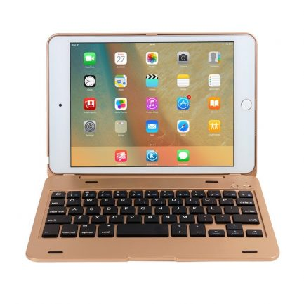 Free delivery iPad mini 3/2/1 Bluetooth Keyboard Cover Case - Gold