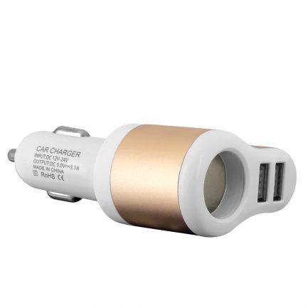 Best deals 3 in 1 Dual USB Port Car Cigarette Lighter Charger