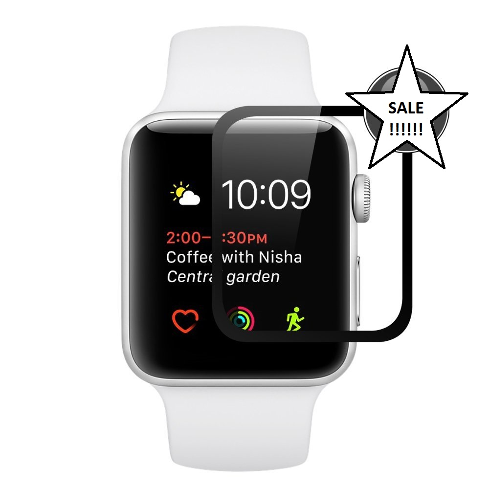 detailed look 917f5 91781 Apple Watch 1 2 3 2D Tempered Glass Screen Protector