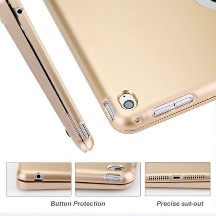Online sale iPad mini 3/2/1 Bluetooth Keyboard Cover Case - Gold