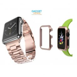 on sale replacement apple watch strap metal band case