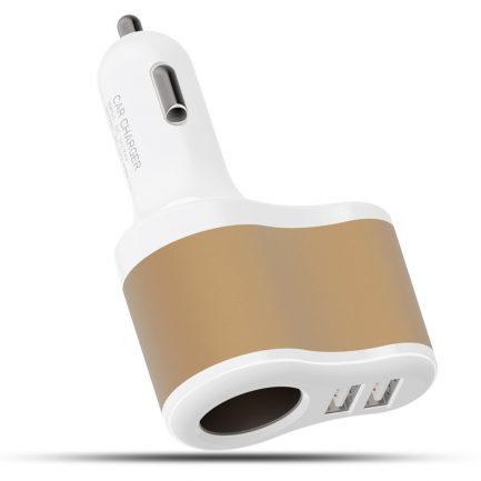 Online sale 3 in 1 Dual USB Port Car Cigarette Lighter Charger