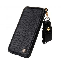 On sale IPhone 6/6s GEX CMAIMAI Leather Wallet Neck Strap Mirror Case