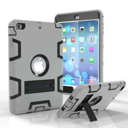 Cheap iPad Mini 4 Hybrid Heavy Duty Shockproof Kickstand Case Cover Stand