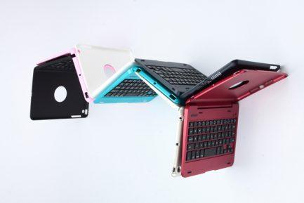 Quality iPad mini 3/2/1 Wireless Bluetooth Keyboard Case - RED