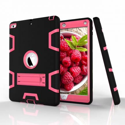 black heavy duty shockproof kickstand case cover ipad mini
