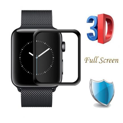 Free delivery Apple iWatch 3D Gex Tempered Glass Screen Protector
