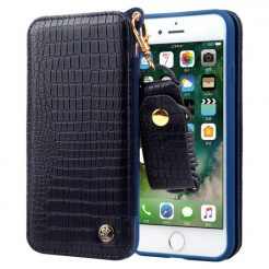 On sale IPhone 7 Plus GEX CMAIMAI Leather Wallet Neck Strap Mirror Case