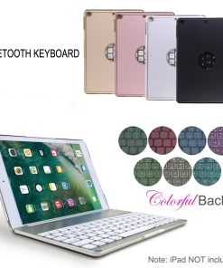 best price Backlit Bluetooth Keyboard Case iPad 2017 5TH GEN 9.7 Rose Gold