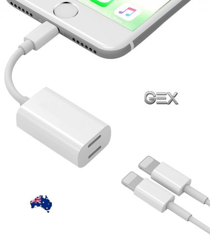 best price iPhone 7 Dual Headphone Adapter Sync Charger Splitter Cable Dongle