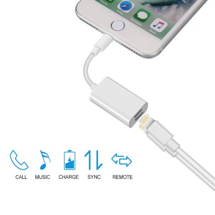 free delivery dual lightning for iPhone 8 plus dual adapter