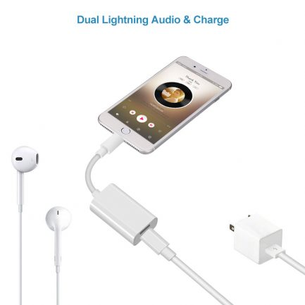 price compare iPhone 8 plus dual adapter splitter cable