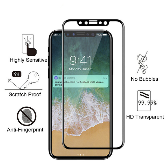 cheap for discount 6684c 56dff iPhone 8 Plus 5D Screen Protector - Full Cover Crystal HD For Apple X 8  Plus 8