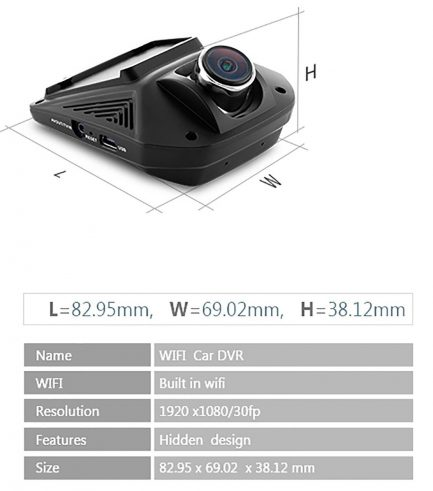 best price car dash cam wifi wide angle