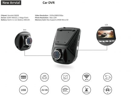 "Best deals for Online sale Car Dash Cam WiFi 2.45"" LCD FHD"