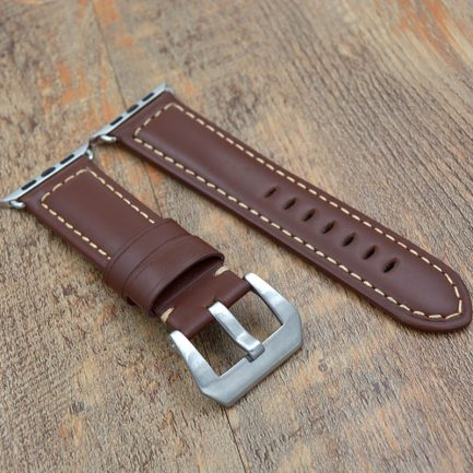on sale leather apple watch band