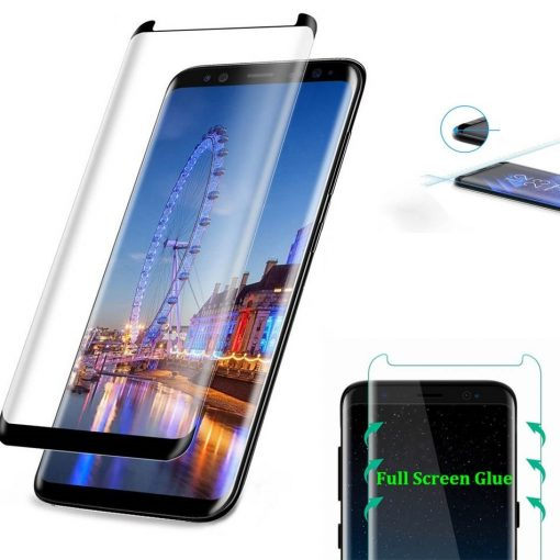 free delivery 3D curved temepered glass full glue screen galaxy