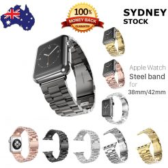 best price replacement stainless metal link band apple smart watch iwatch