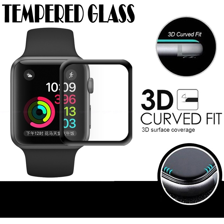 Apple Watch 1 2 3 38mm New 3d Tempered Glass Screen Protector