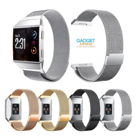 best price Milanese Mesh Wrist Watch Band for Fitbit Ionic Stainless Steel Metal Strap