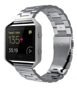 best price Fitbit Blaze Solid Stainless Steel Metal Replacement Band Frame 23mm