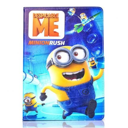 best price IPad Mini 4/3/2/1 Air/Air 2 Pro 9.7/2017 Minion Rush Leather Case
