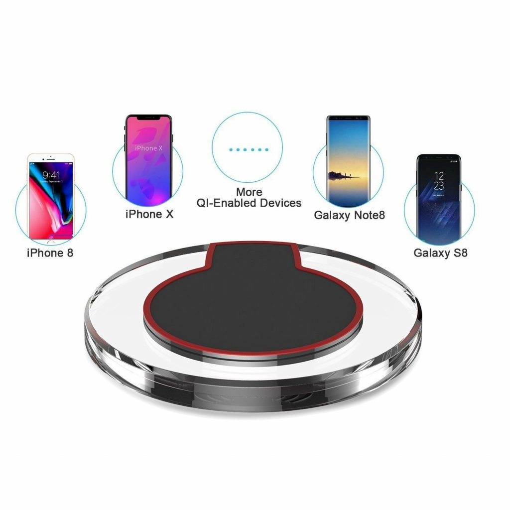 smart qi wireless charging pad for iphone x iphone 8 galaxy note 8. Black Bedroom Furniture Sets. Home Design Ideas