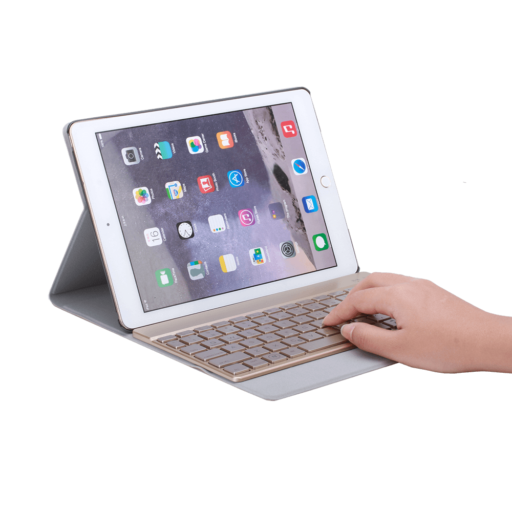 New 7 Color Led Bluetooth Keyboard Case iPad Pro 9.7