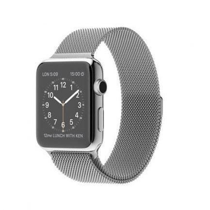 apple watch silver milanese loop band